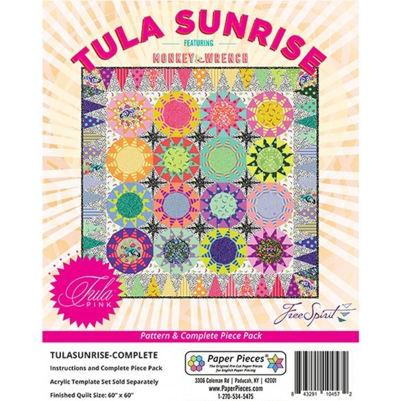 Tula Sunrise Pattern Complete with Paper Piece Pack