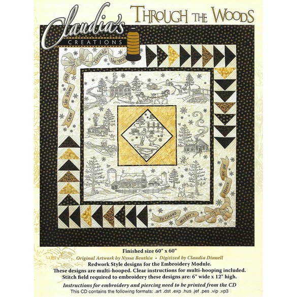 Through the Woods Quilt Pattern CD