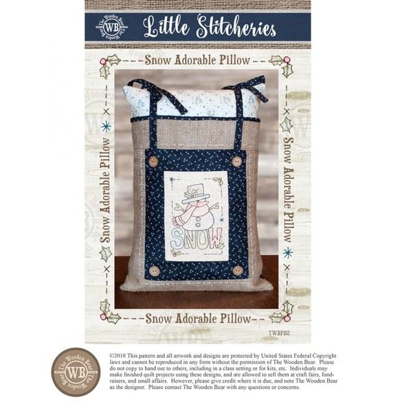 Little Stitcheries, Snow Adorable Pillow Pattern