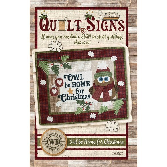 Owl be Home for Christmas Pattern, The Wooden Bear