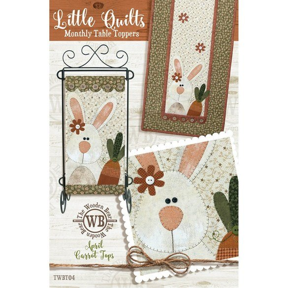 Monthly Table Topper and Wall Hanging Pattern, April Carrot Tops