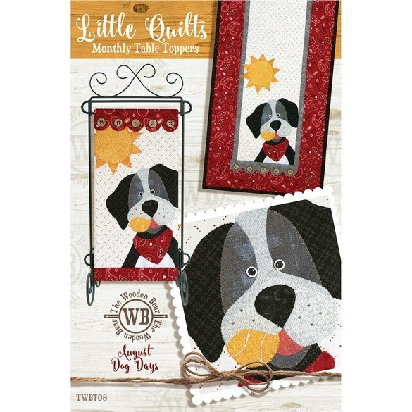 Monthly Table Topper and Wall Hanging Pattern, August Dog Days