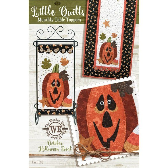 Monthly Table Topper and Wall Hanging Pattern, October Halloween Treat