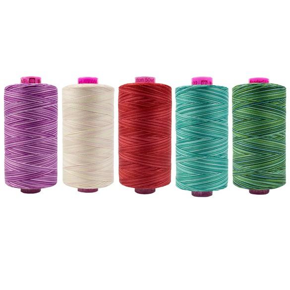 Wonderfil, Tutti Variegated 50wt Cotton Thread (1093yds)