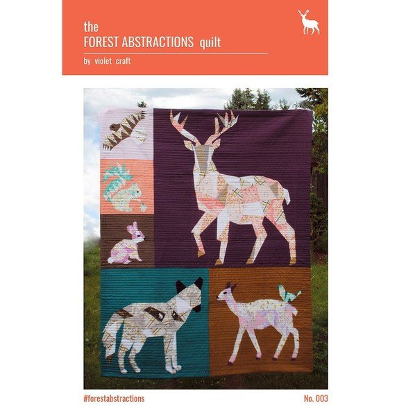 Forest Abstractions Quilt Pattern, Violet Craft