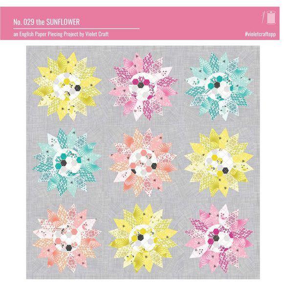 The Sunflower EPP Block Pattern