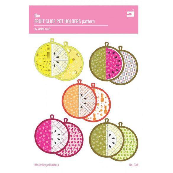 The Fruit Slice Pot Holder Pattern