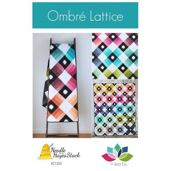 Ombre Lattice Quilt Pattern
