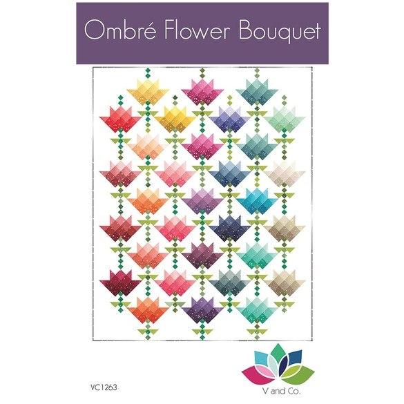Ombre Flower Bouquet Quilt Pattern