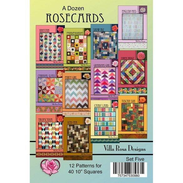 A Dozen Rosecards Pattern Set, Villa Rosa Designs