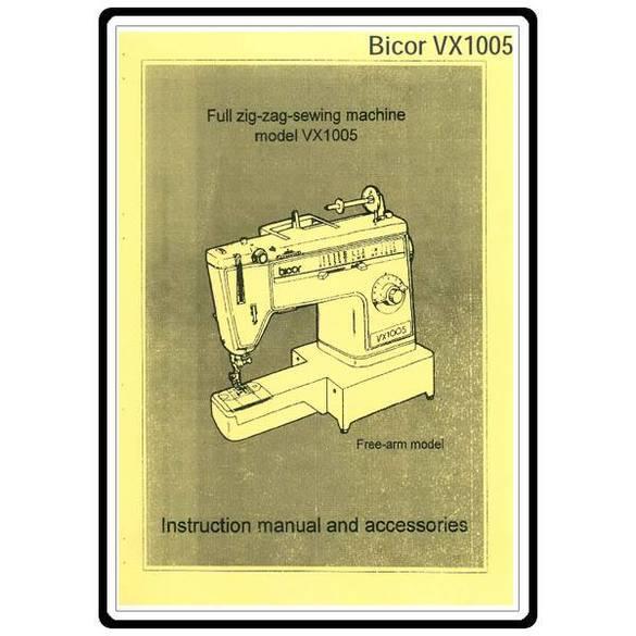 Instruction Manual, Brother Bicor VX1005 Zig Zag