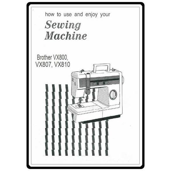 Instruction Manual, Brother VX-800