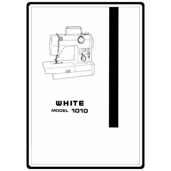 Instruction Manual, Singer W1010