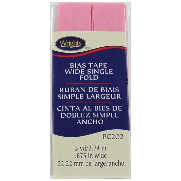Bias Tape, Wide Single Fold, Wrights #W202