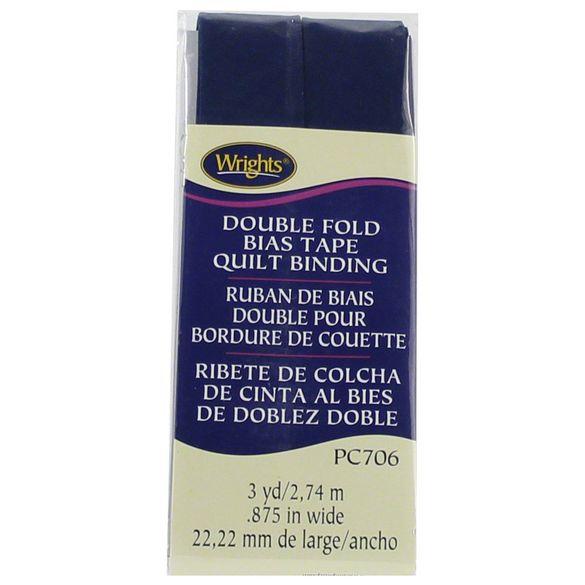 Bias Tape, Double Fold Quilt Binding - Navy