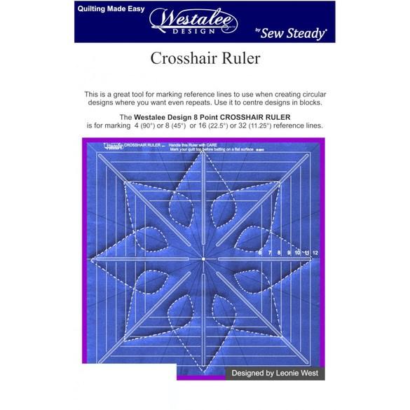 Westalee Crosshair Square Template Ruler