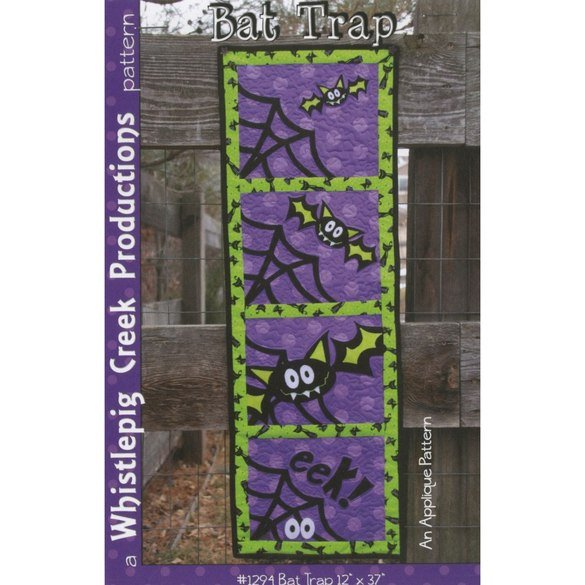 Bat Trap Applique Pattern, Whistlepig Creek