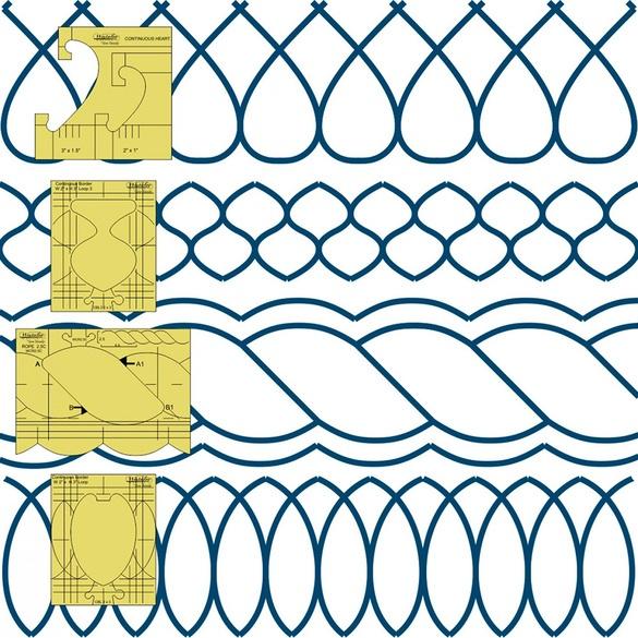 Westalee Design, Border Sampler 5pc Template Set