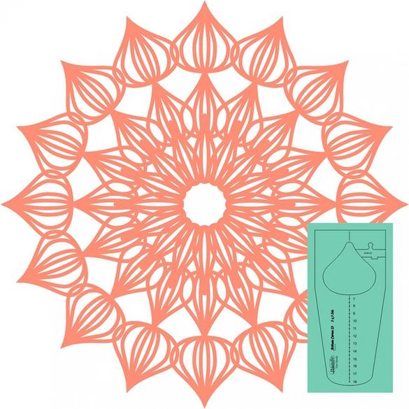 Westalee Artisan Curve Iris 23 Template Ruler