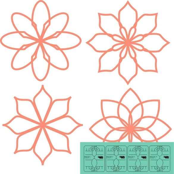 Mini Spin-E-Fex Template Rulers (Set 3)
