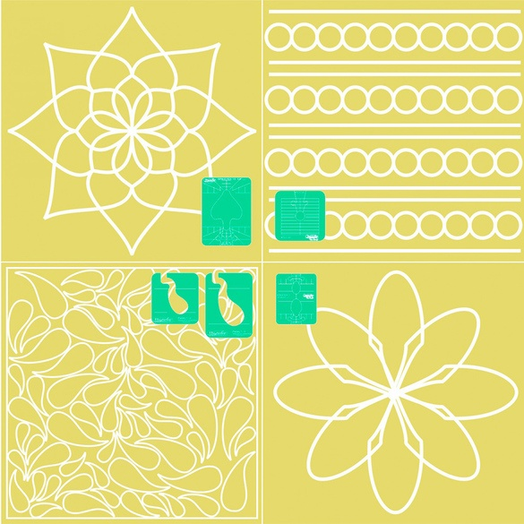 Westalee Spring Collection Ruler Templates (5pc)