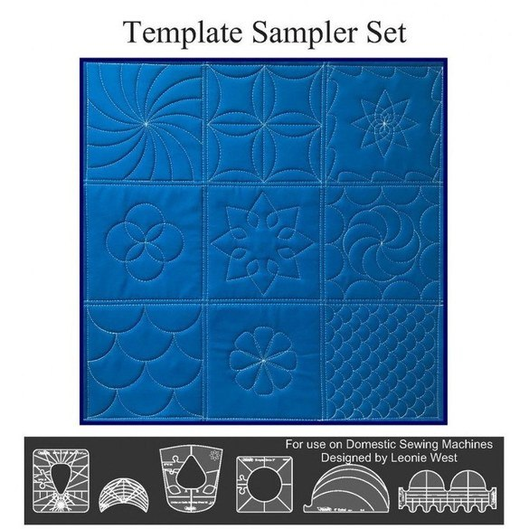 Westalee Design Longarm Template Sampler Set (6pc)