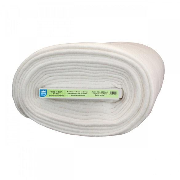 "Pellon Wrap-N-Zap Microwave Safe Cotton Batting - 90"" Wide by 9yds"