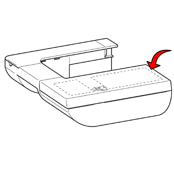 Accessory Table F Cover Supply Assembly, Brother #XD0697054