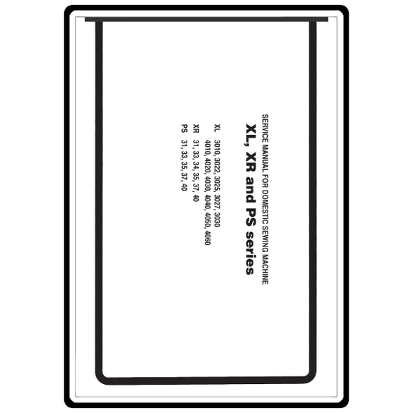 Service Manual, Brother XL3025