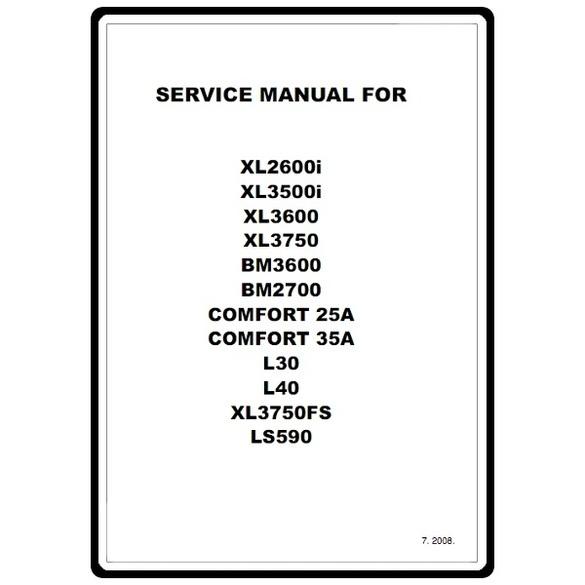 Service Manual, Brother XL3500i