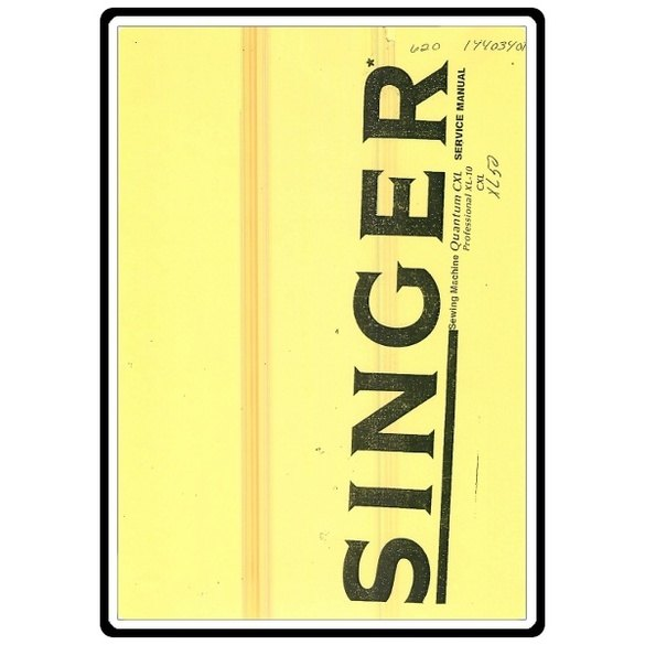 Service Manual, Singer XL50