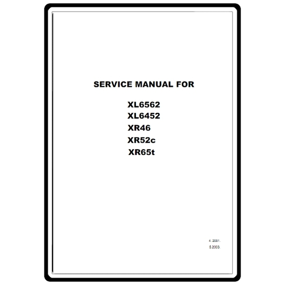 Service Manual, Brother XL6452