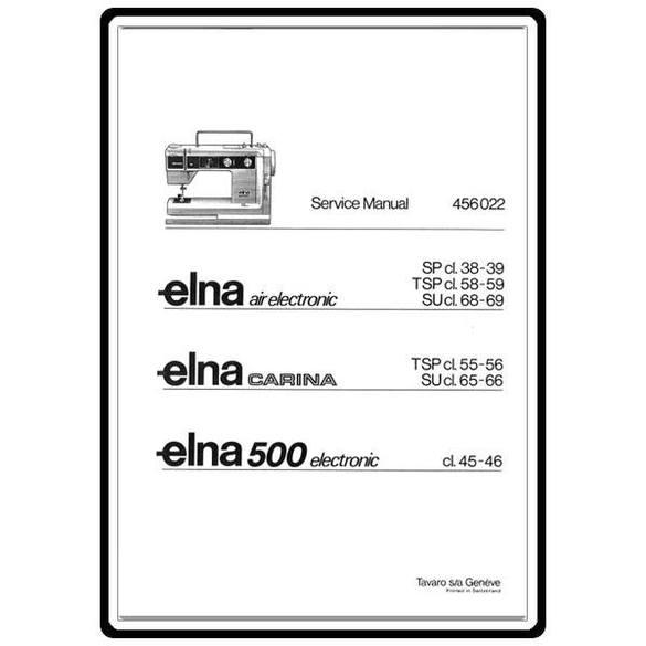 Service Manual, Elna Carina