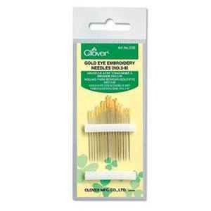Gold Eye Embroidery Needles (No. 3-9) (16pk)