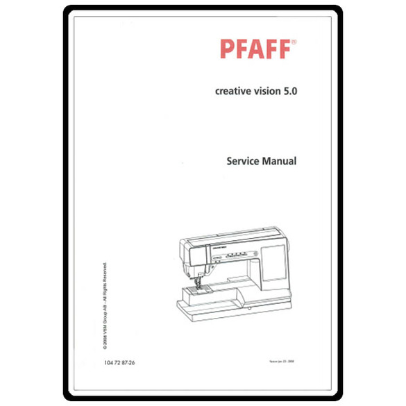 Service Manual, Pfaff Creative 5.0