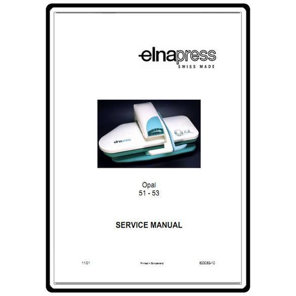 Service Manual, Elna Press Opal