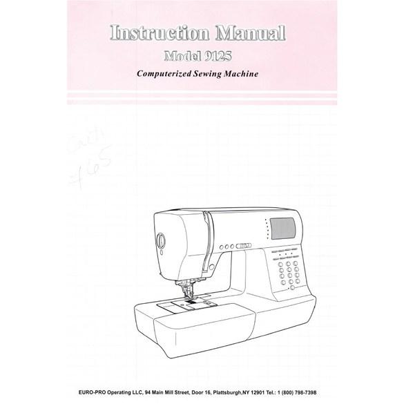 Instruction Manual, Euro Pro 9125