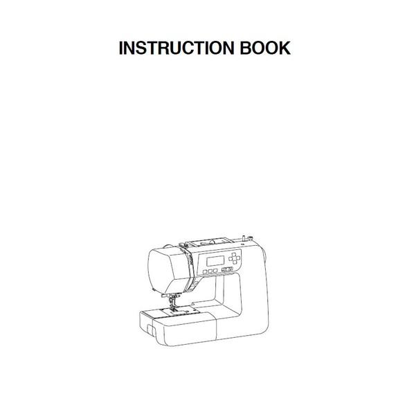 Instruction Manual, Janome 3160QDC