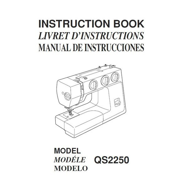 Instruction Manual, Janome QS2250