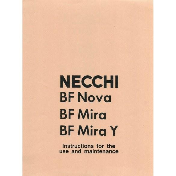 Instruction Manual, Necchi BF Mira