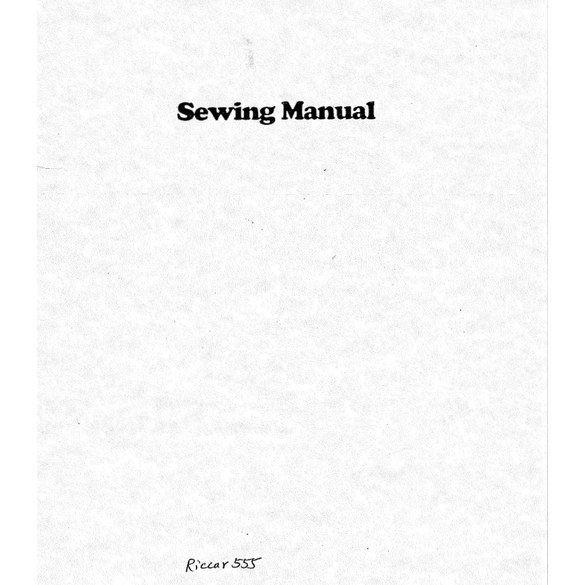 Instruction Manual, Riccar 555