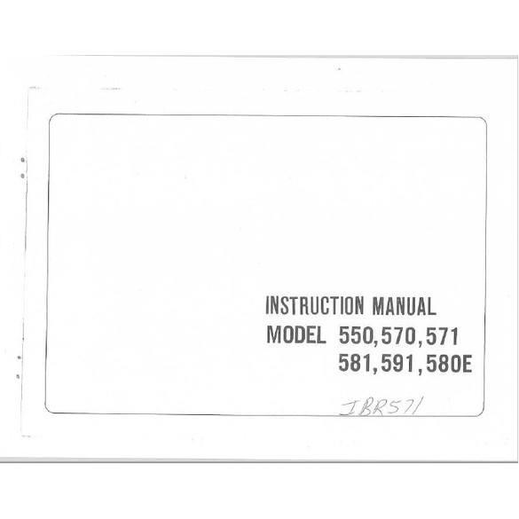 Instruction Manual, Riccar 581