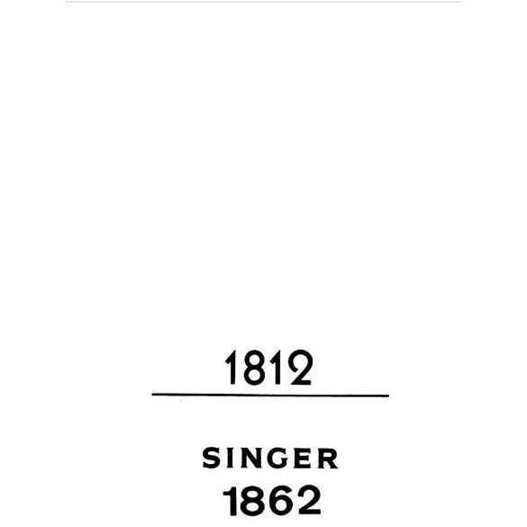 Instruction Manual, Singer 1812