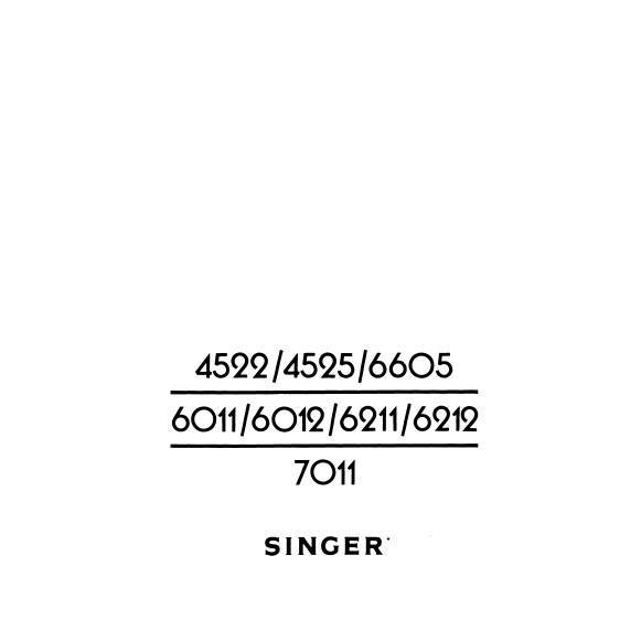 Instruction Manual, Singer 4522