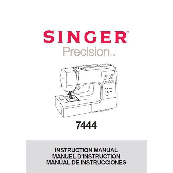 Instruction Manual, Singer 7444