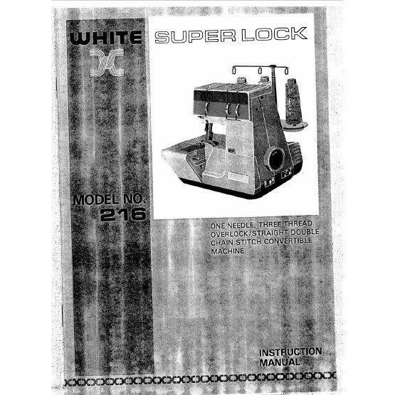 Instruction Manual, White 216