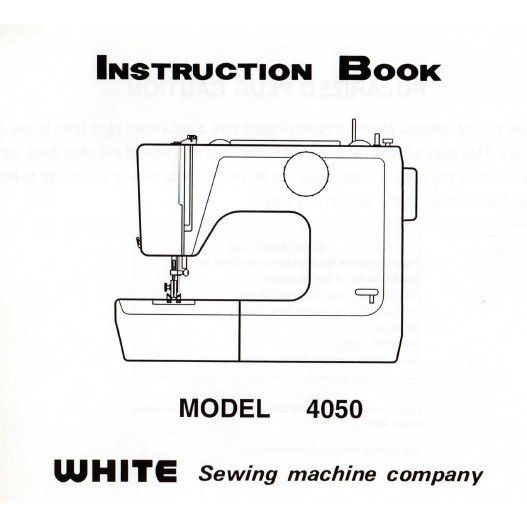Instruction Manual, White 4050