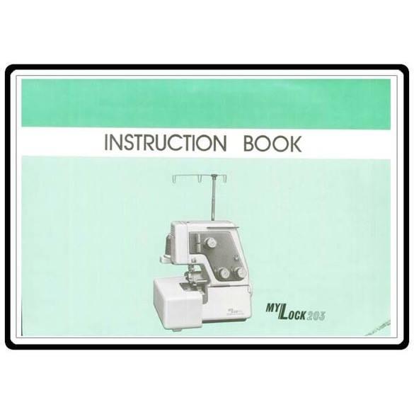 Instruction Manual, Janome 203