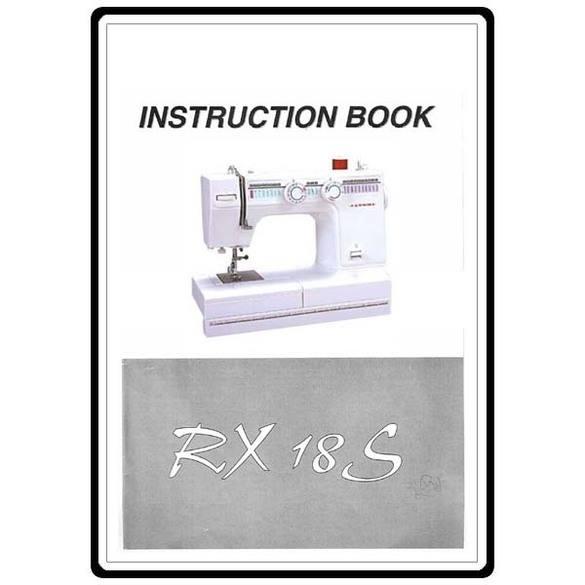 Instruction Manual, Janome RX-18S
