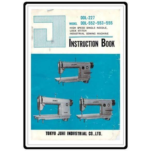 Instruction Manual, Juki DDL-552